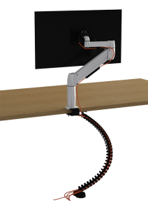 Cable spine and monitor Back view