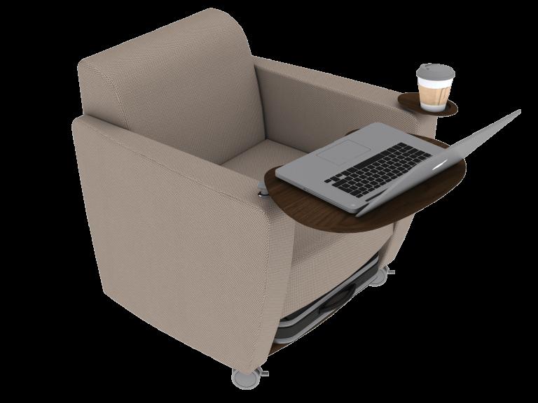 Medium Taupe Ole Chair - 1