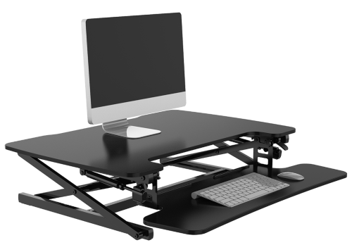 Desk Riser Image with pc set up web