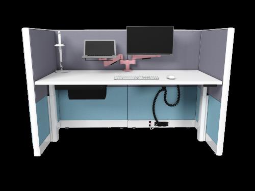 Panel Desk Blue and Grey web