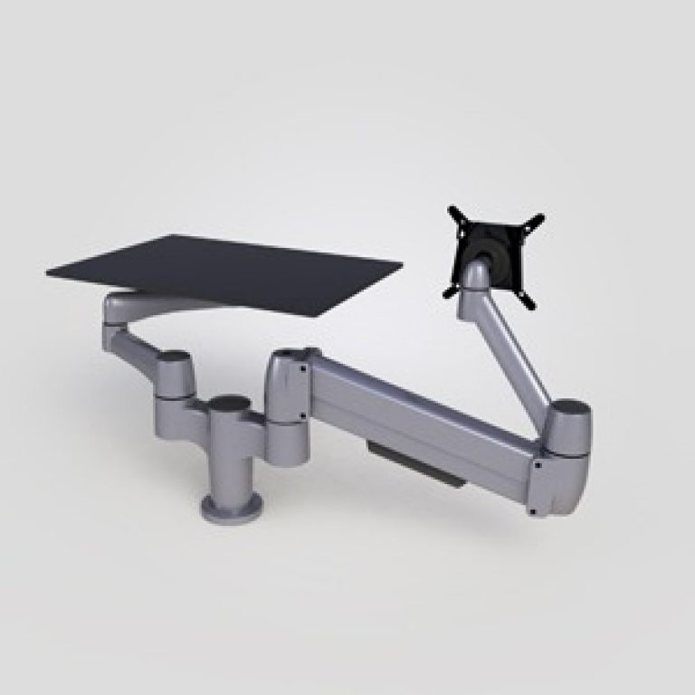 double arm and laptop platform from the back