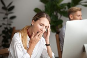 Tiredness can affect performance at work