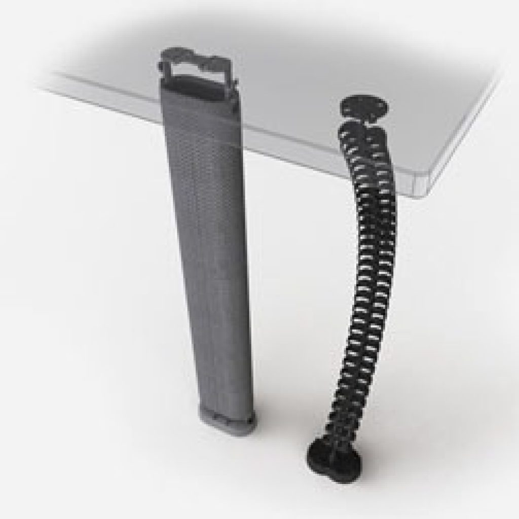 Cable spine to manage wires on desk