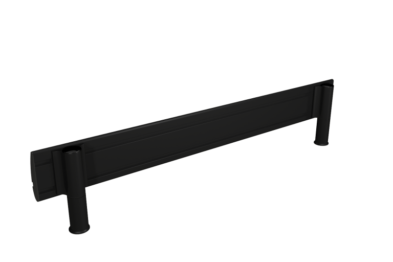 Black SpaceBeam tool rail