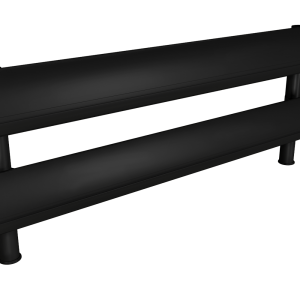 Black two tier SpaceBeam tool rail
