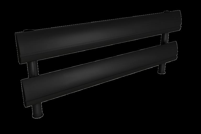 Black two tier SpaceBeam tool rail