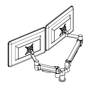 Double Monitor Arm-01