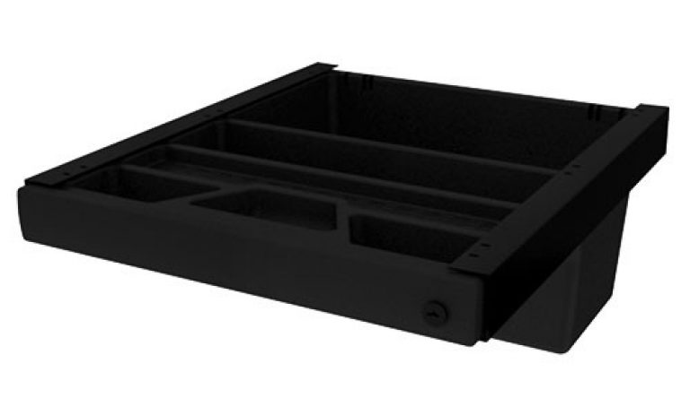 Pelican Drawer with a range of compartments for deep desk storage