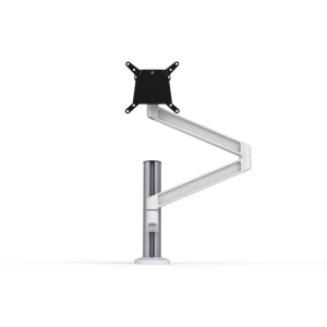 Single PoleArm monitor arm in white