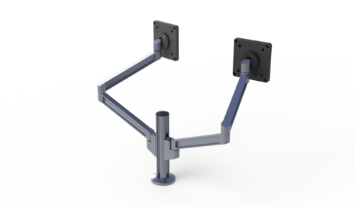 Double PoleArm monitor arms with VESA mounts