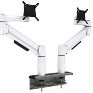 Multi-Flex with two white SpaceArm monitor arms