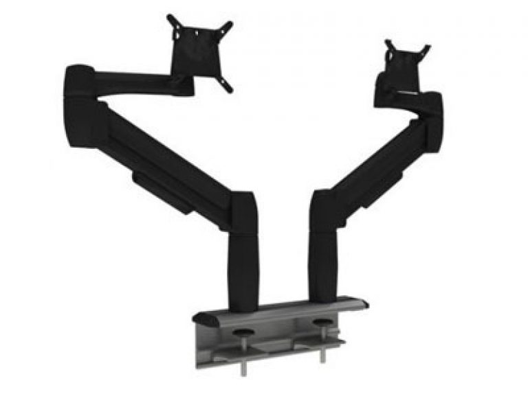 Multi-Flex with two black SpaceArm monitor arms