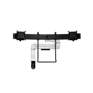 White SpaceArm monitor arm with Multi-Mount for two monitor screens
