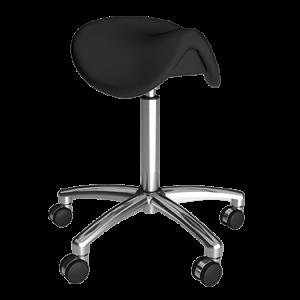 Ergonomic height adjustable stool with wheels