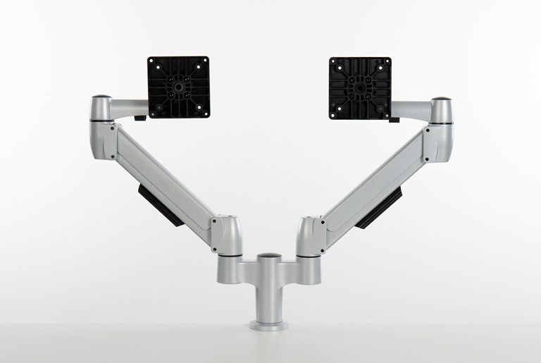 Double SpaceArm monitor arms