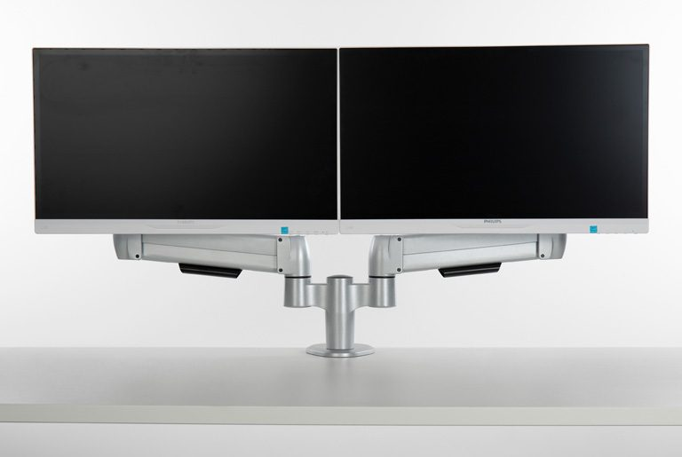 Double SpaceArm monitor arm with screens