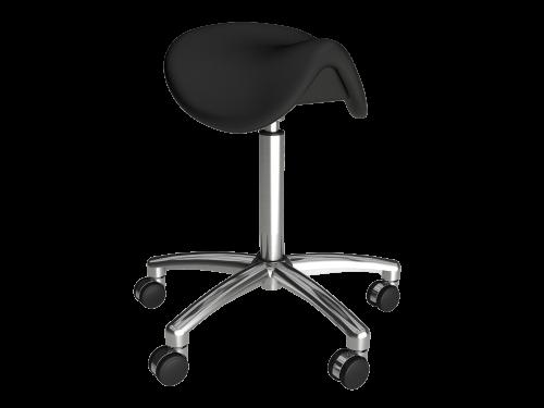 Ergonomic adjustable height office Hi-Stool with wheels