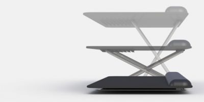 Keyboard Platform that allows you to move between sitting and standing posiitons when working