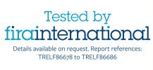 Tested by Fira International logo for SpaceArm monitor arm